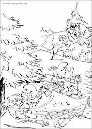 smurfs color coloring pages kids cartoon