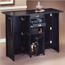 Black Bar Cabinet Home Styles Furniture Black Folding Home Bar Cabinet With Chrome
