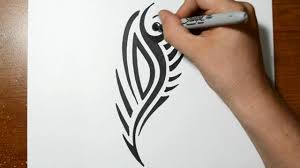 how to draw a cool tribal tattoo design sketch 1 youtube