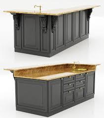 3d kitchen island cabinet 2 cgtrader