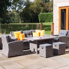 garden dining set patio set outside furniture candle and blue