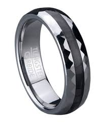 carbon wedding band mens tungsten wedding ring with black carbon fiber inlay carbon