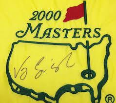Masters Flag Golf Vijay Singh Images Psa Autographfacts