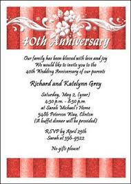 ruby 40th anniversary invitation add details on back of