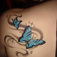 visual butterfly butterfly thigh on tattoochief com
