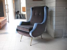 1950s Armchair Vintage French Velvet Armchair 1950s For Sale At Pamono