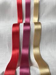 silk satin ribbon 3 4 pink gold silk satin ribbon zen cart the of e commerce