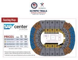 Key Arena Floor Plan 2016 U S Olympic Team Trials Women U0027s Gymnastics Sap Center