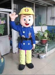 fireman sam cartoon costume adults dolls walking stage adver