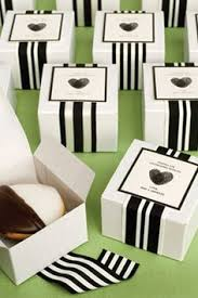cookie box favors striped ribbon and lime green packaging for wedding favors the