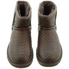 s ankle ugg boots ugg mini woven boots in cognac brown in cognac