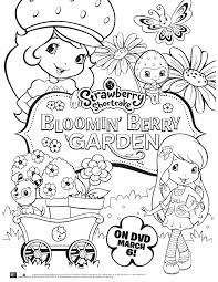 strawberry shortcake berrykins coloring pages download and print