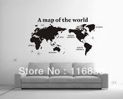 World Map Wall Decal by Aliexpress Com Buy Free Shipping New Products Large World Map