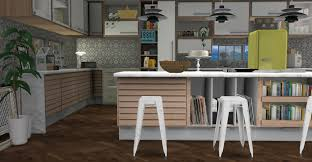kitchen island instead of table c series kitchen by minc teh sims