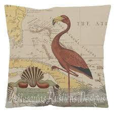 british colonial pillow 100 cotton canvas u0026 burlap old map