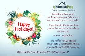 happy holidays ehousingplus