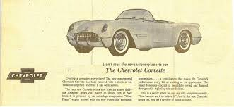 corvette magazine subscription vues magazine 1953 corvette magazine ad1953 corvette