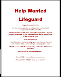 Seeking New Season Cground In Rhode Island Reportedly Seeking New Lifeguard