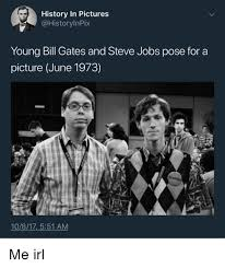Bill Gates And Steve Jobs Meme - history in pictures young bill gates and steve jobs pose for a