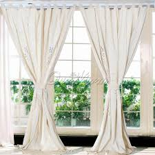 cotton linen modern curtains for living room tab top curtains