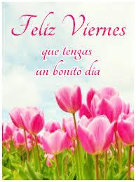 imagenes feliz viernes facebook tarjeta virtual con tulipanes de feliz viernes para compartir en