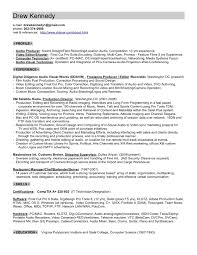 Resume For Video Production Music Producer Sample Resume
