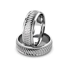 carved wedding band 14kt white gold men s carved wedding band union diamond
