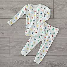 organic alphabet 2t pajamas the land of nod