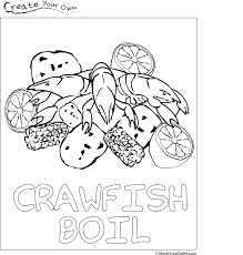 crawfish boil coloring page free download crawfish lobster