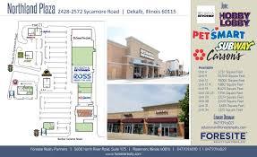 northland plaza store list hours location dekalb illinois