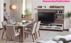 Tv In Dining Room Casual Dining Room Furniture Table Chairs With Tv Unit