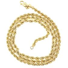 clasp gold necklace images Mens hollow 10k gold rope chain necklace with lobster claw clasp 2 7mm jpg