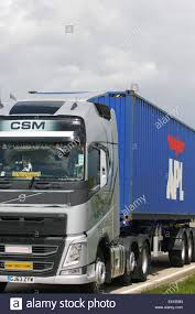 volvo lorry a csm haulage volvo truck hauling an apl shipping container along