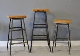 Wood And Metal Bar Stool Furniture Industrial Style Bar Stools Awesome Wood Metal Triple