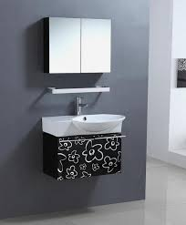 30 Inch Single Sink Bathroom Vanity 30 Inch Wall Mount Single Sink Bathroom Vanity In Black And White