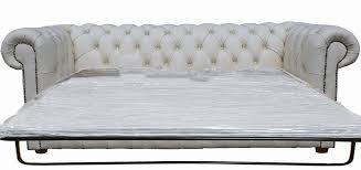 Chesterfield Sofa Beds White Leather Chesterfield Sofa Bed 1025theparty