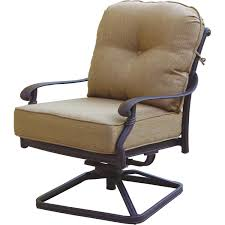 Patio Chairs Darlee Santa Monica Cast Aluminum Patio Swivel Rocker Club Chair