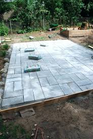 How To Install Pavers Patio How To Install Pavers In Backyard Install Patio An Exle Of