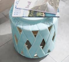 Teal Accent Table Lattice Ceramic Accent Table Pottery Barn