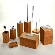 Salle De Bain Bathroom Accessories by Bamboo Bathroom Accessory Set For Bath