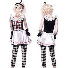 ladies harlequin honey halloween clown jester costume fancy dress