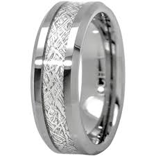 mens comfort fit wedding bands meteorite ring tungsten carbide for men 8mm comfort fit wedding