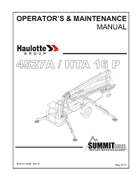 operation and maintenance manual bil jax