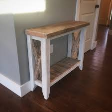 Entry Way Tables by Barn Wood Entryway Table Urban Industrial Design
