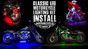 Led Lights For Motorcycle Ledglow Classic Motorcycle Lighting Kit Install Youtube