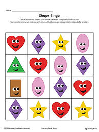 geometric shape bingo printable card heart diamond oval