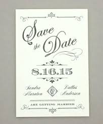 vintage save the date save the date print