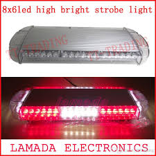 red and white led emergency lights car roof strobe lights 48led strobe beacon emergency spot warning