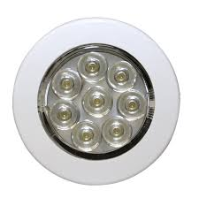 flush mount led lights 12v ecco ew0220 interior lighting 7 led round flush mount w switch 12v