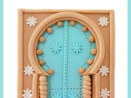 Christmas Cake Decorations B M by Gumpaste Door Cake Topper Inspired By Arabic Architecture